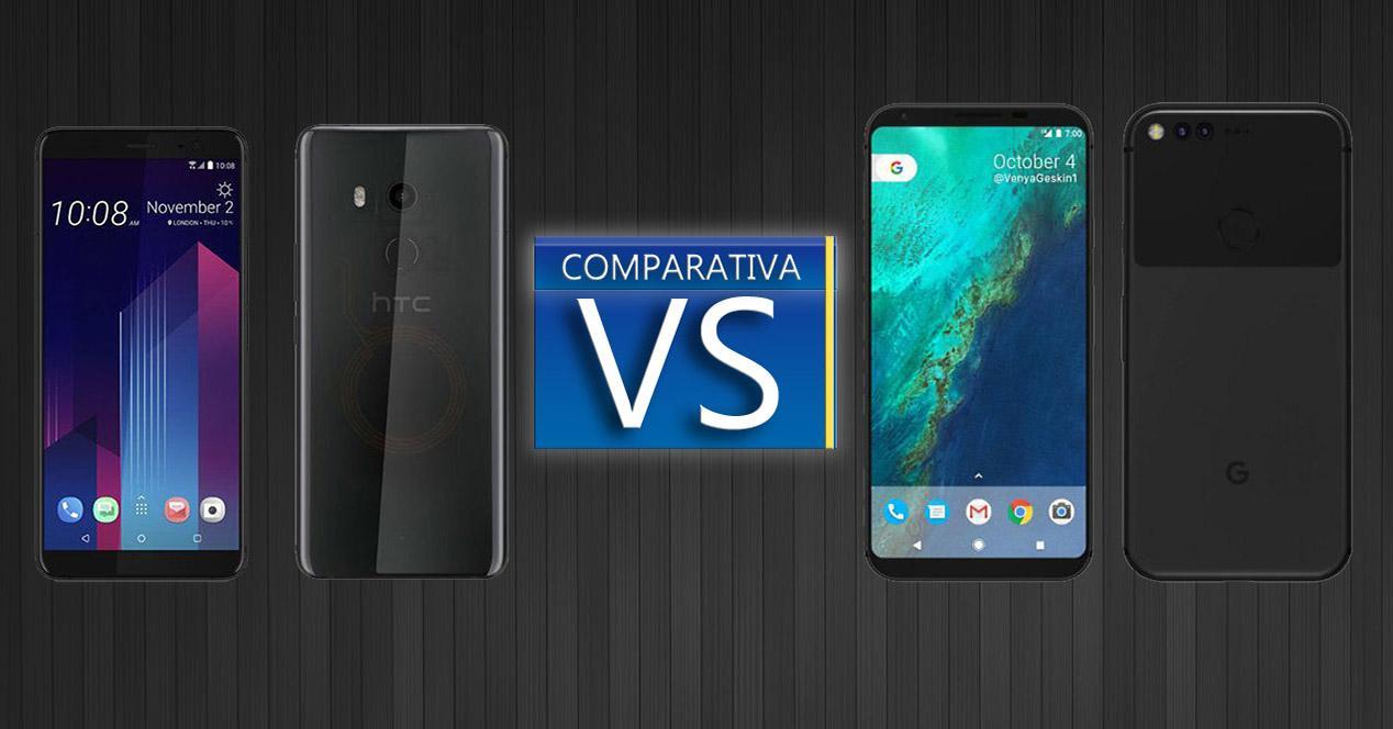 Comparativa entre el HTC U11+ y el Google Pixel 2 XL