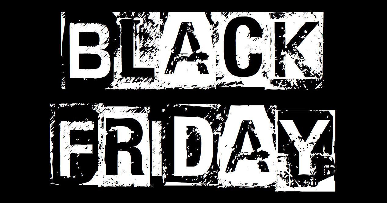Black Friday con fondo negro