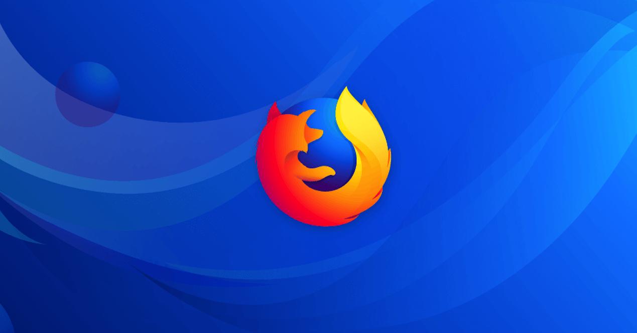 firefox quantum logo con fondo azul