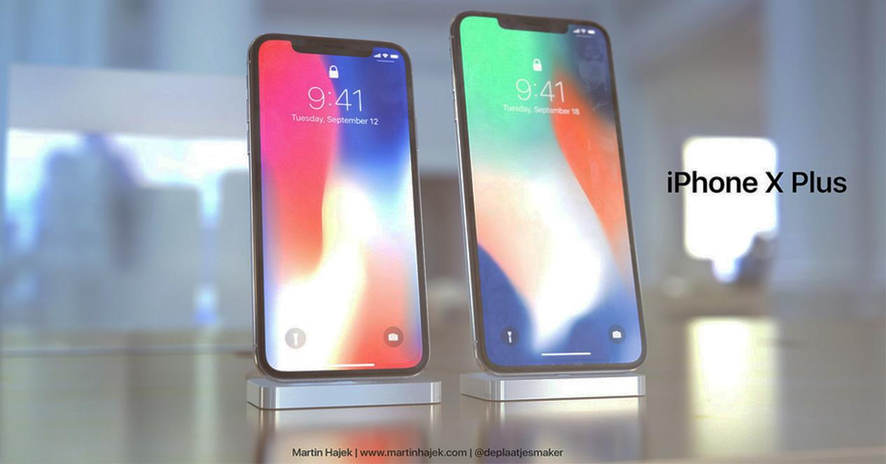 iPhone X Plus frente a iPhone X