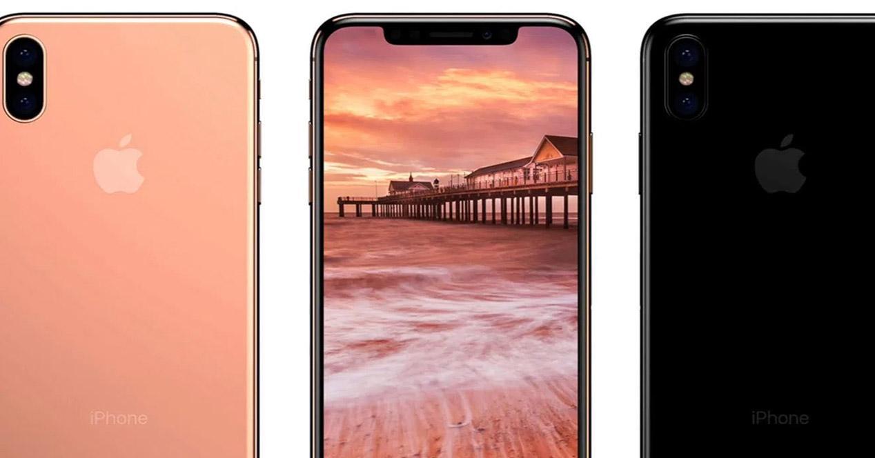 iPhone X en color rosa