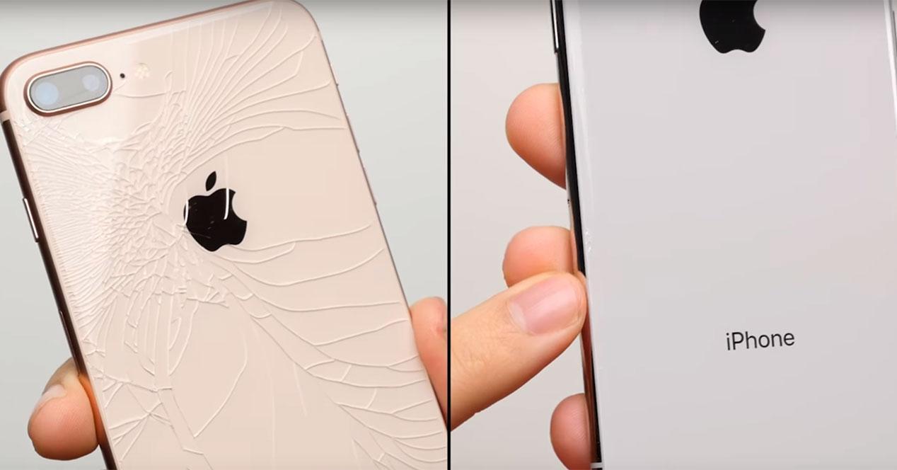 caída del iPhone X