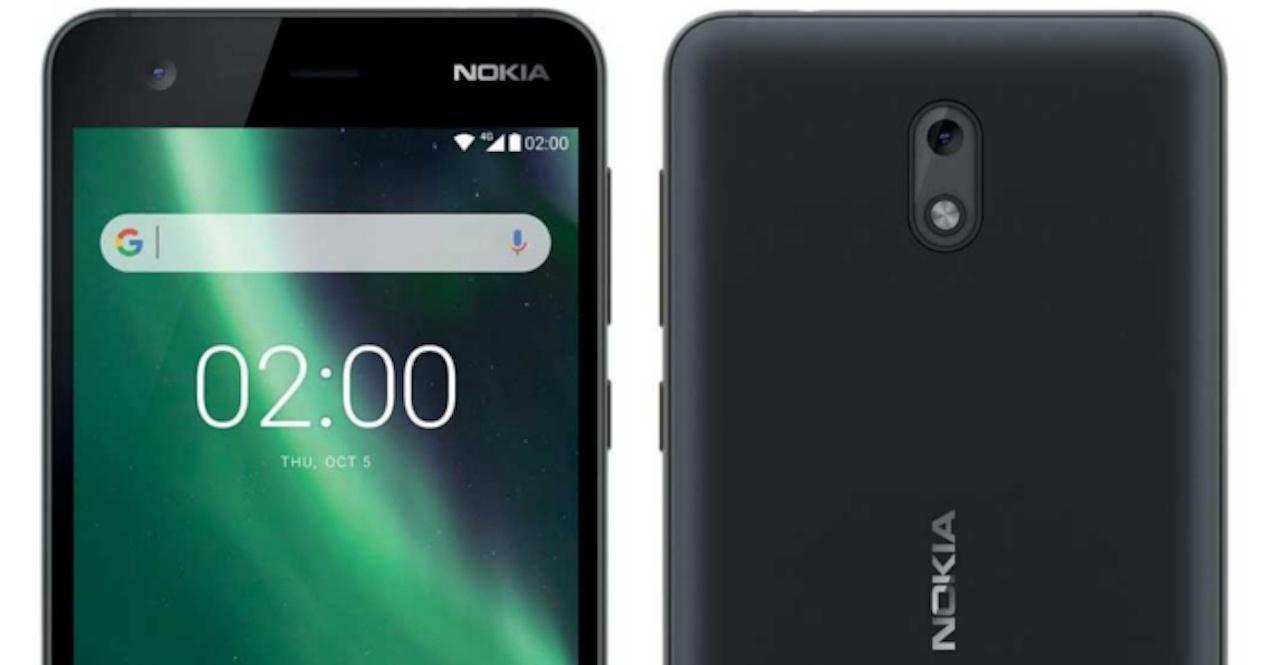 frontal y trasera del Nokia 2