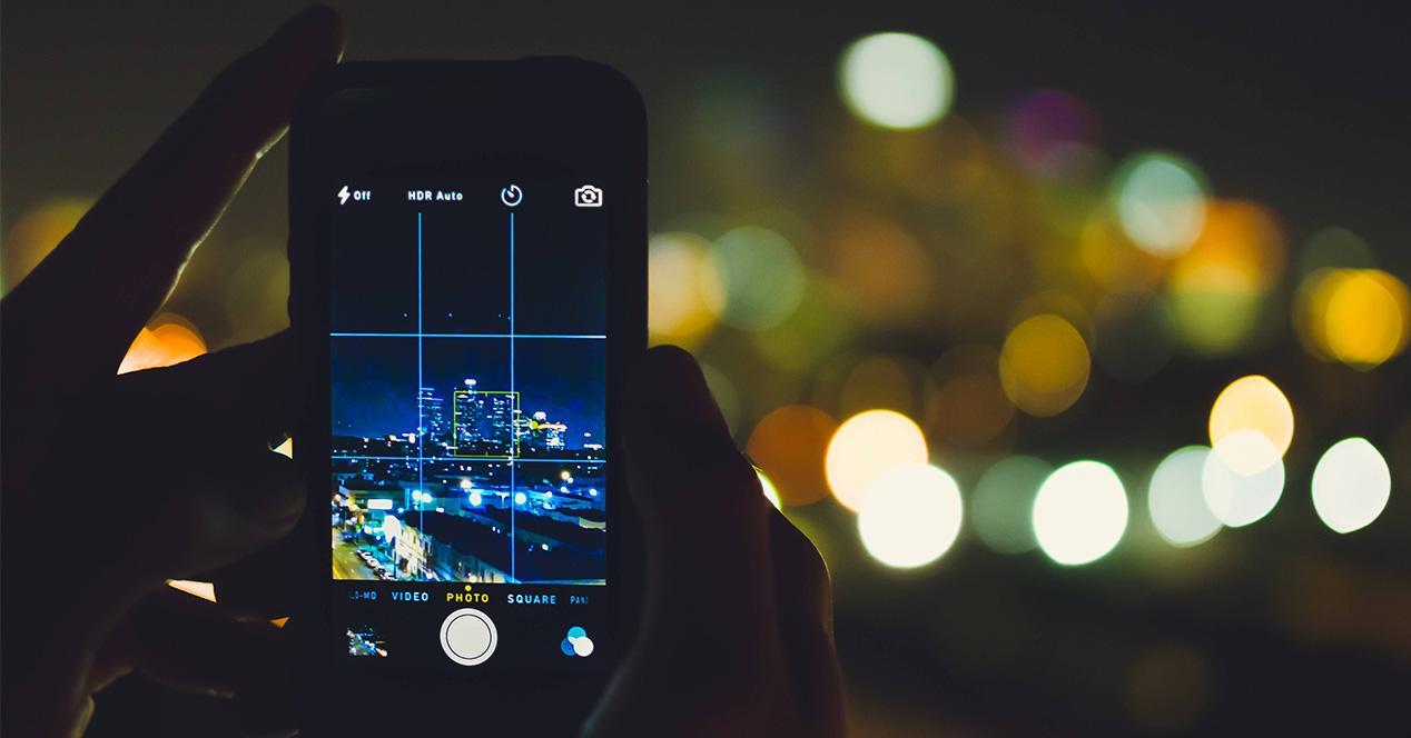 App de cámara de un smartphone