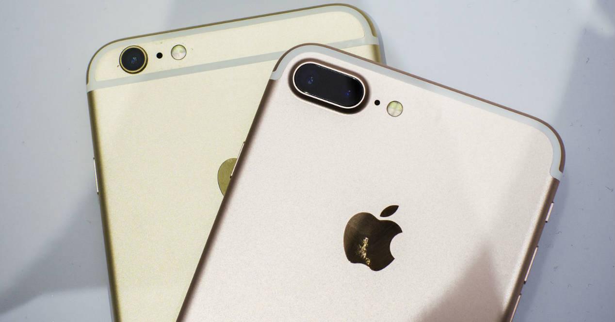 Cámaras iPhone 6s Plus y iPhone 7 Plus