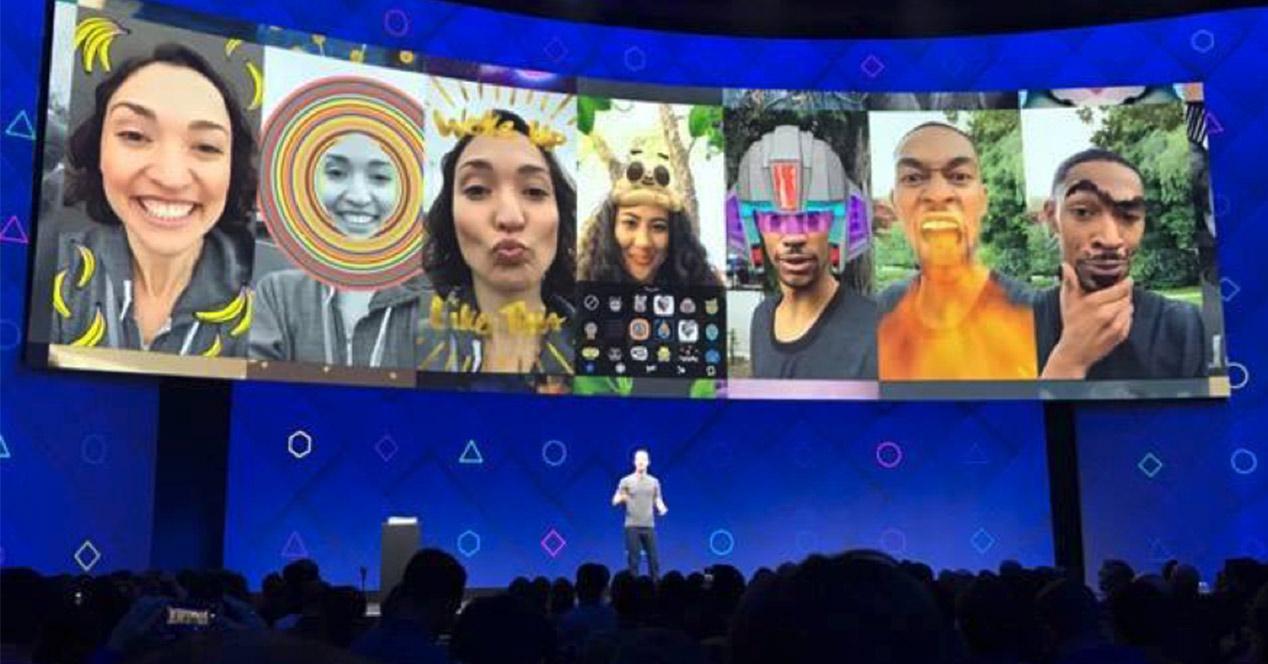 Tecnología de realidad aumentada en Facebook Messenger