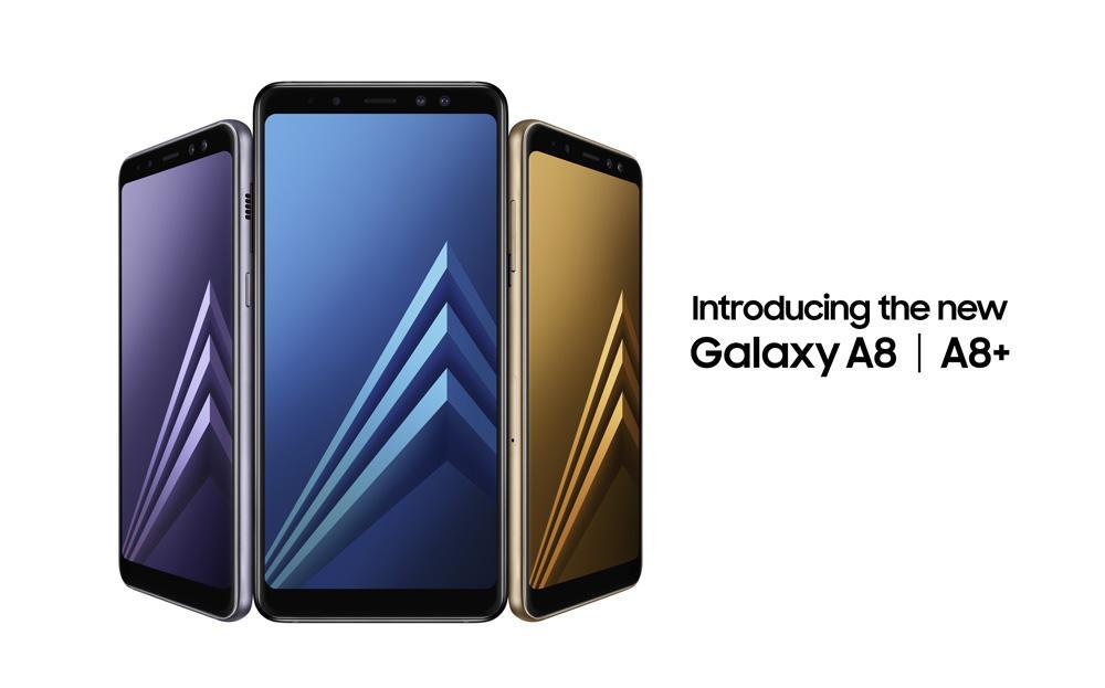 Doble cámara frontal del Galaxy A8 como característica para el Galaxy S9