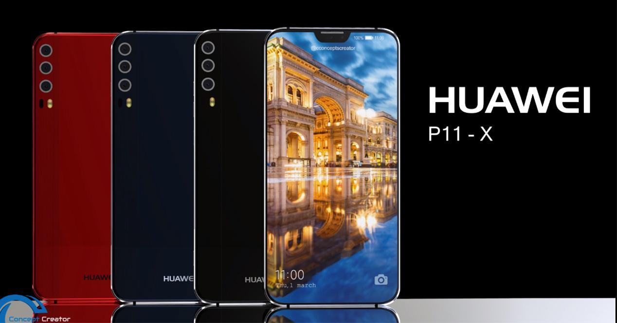 Diseño conceptual del Huawei P11