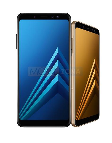 Samsung Galaxy A8 azul y dorado