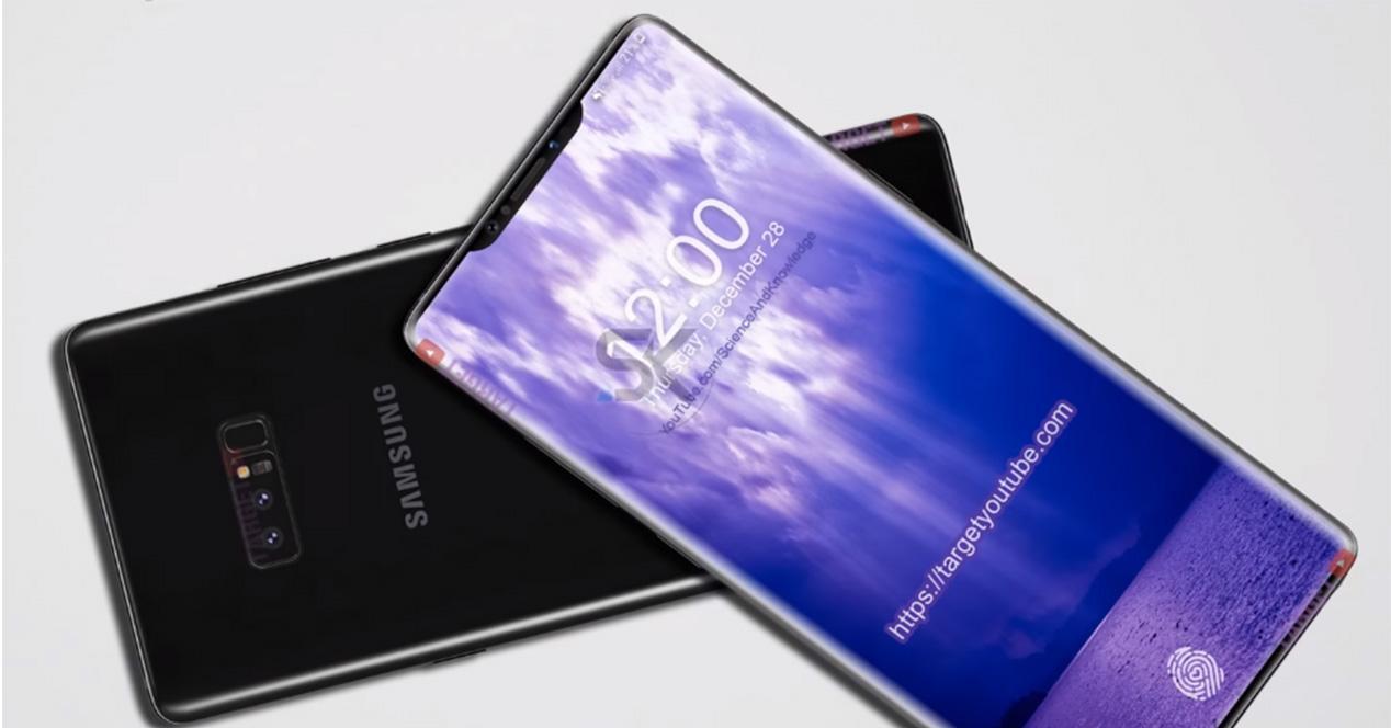 Concepto de diseño del Galaxy Note 9 en vídeo