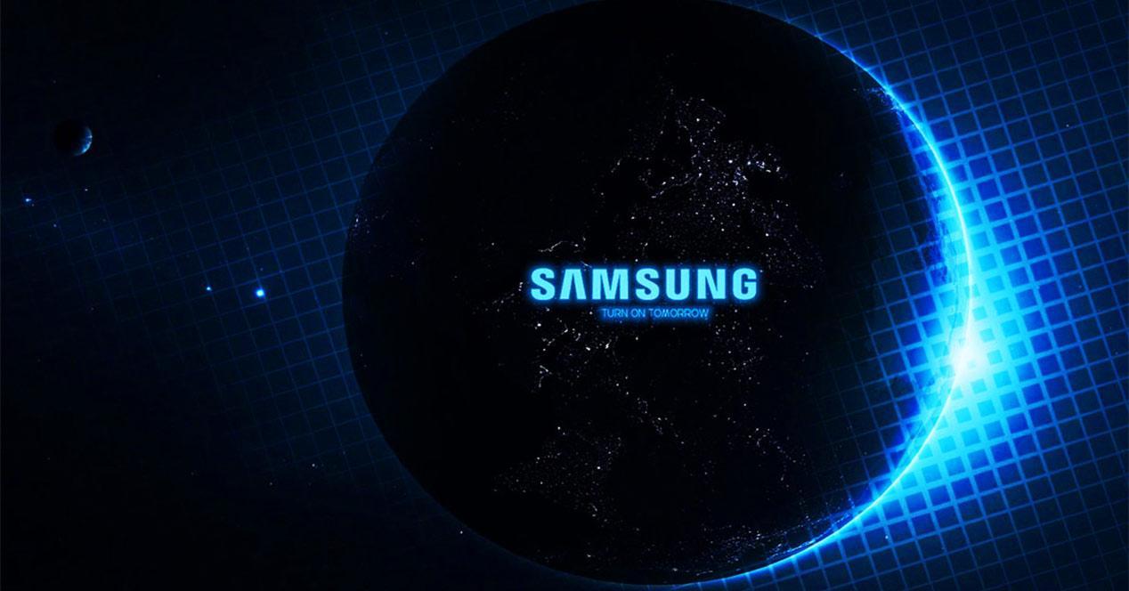 Logo de Samsung en una esfera