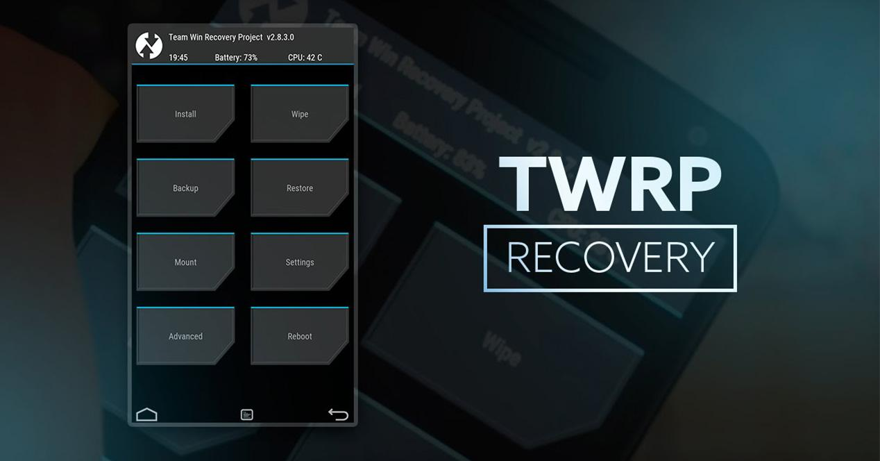 Interfaz del recovery TWRP