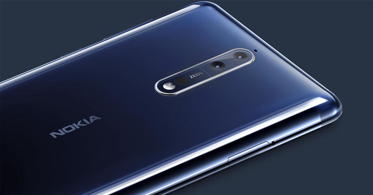 Doble cámara del Nokia 8 con Android