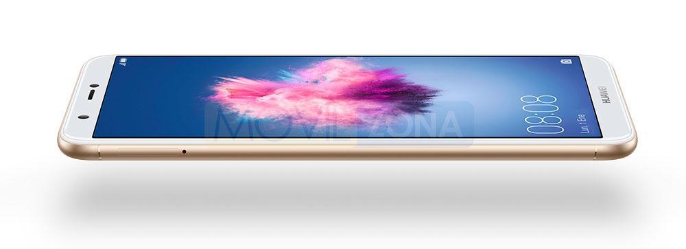 Huawei P Smart dorado vista de perfil