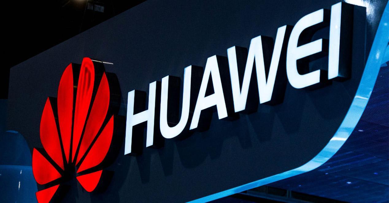Logotipo de Huawei iluminado