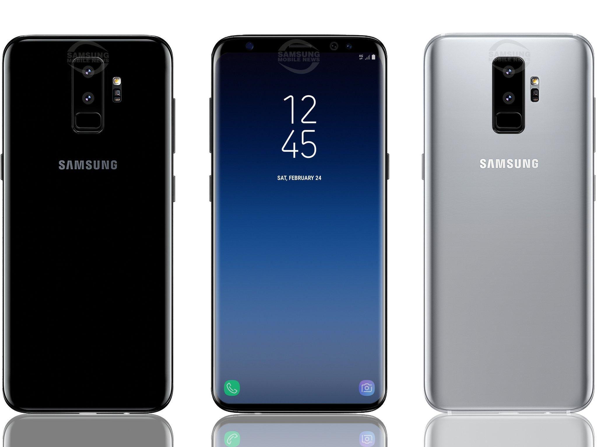frontal del Samsung Galaxy s9