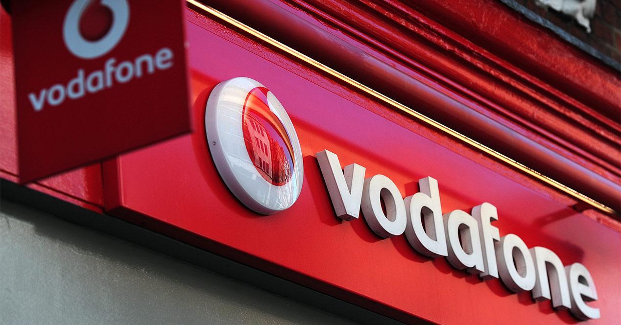 Pancarta de Vodafone