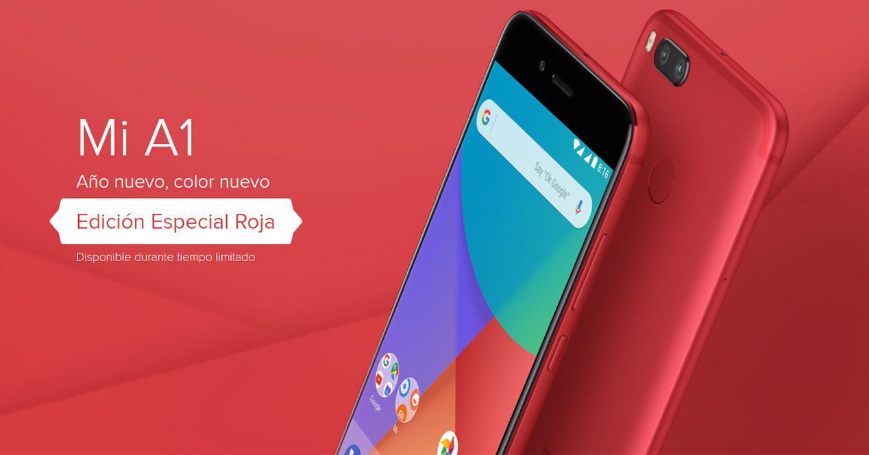 Edición especial del Xiaomi Mi A1 de color rojo