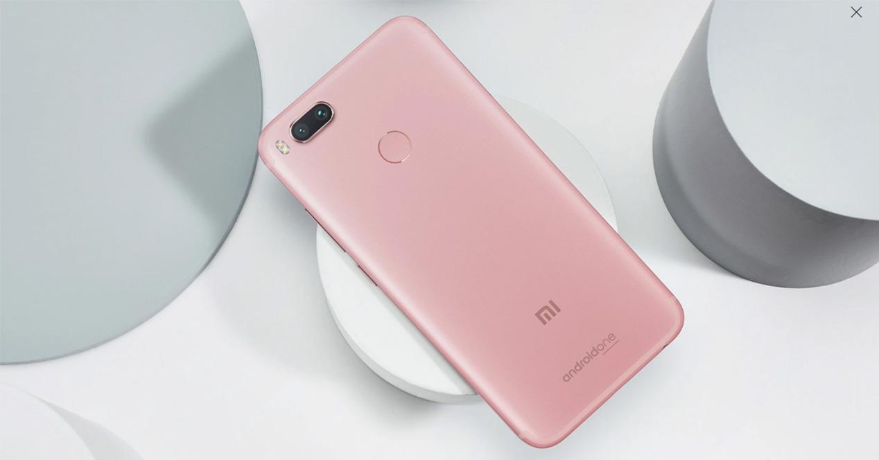 Xiaomi Mi A1 de color rosa