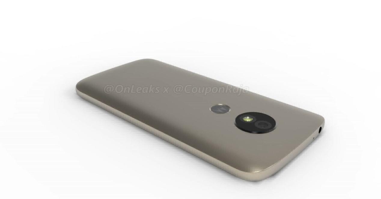 diseño del Moto E5 por detrás