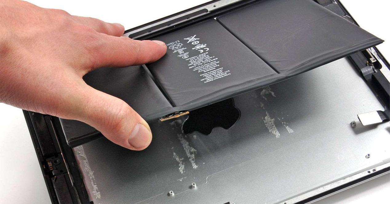 batería de un iPad