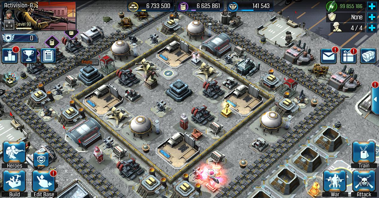 Captura de pantalla de un juego de estrategia