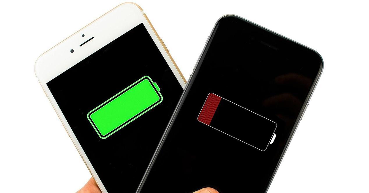 Nivel de la batería de iPhone