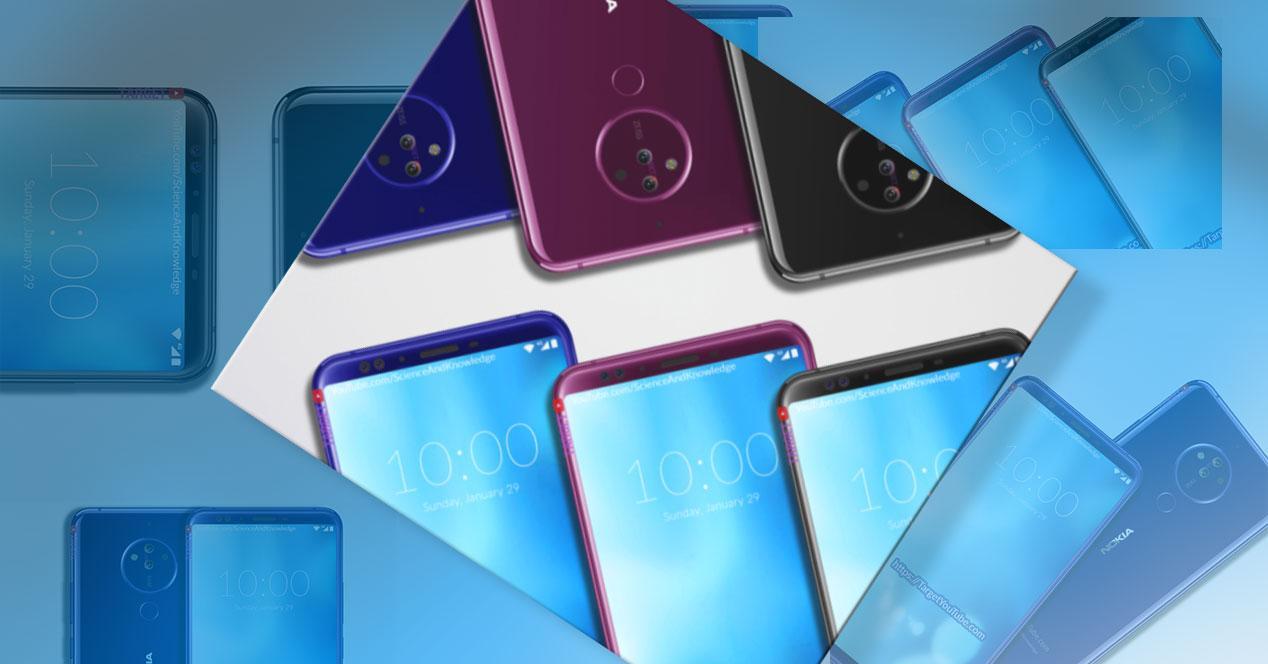 Fotos del Nokia 10 de varios colores