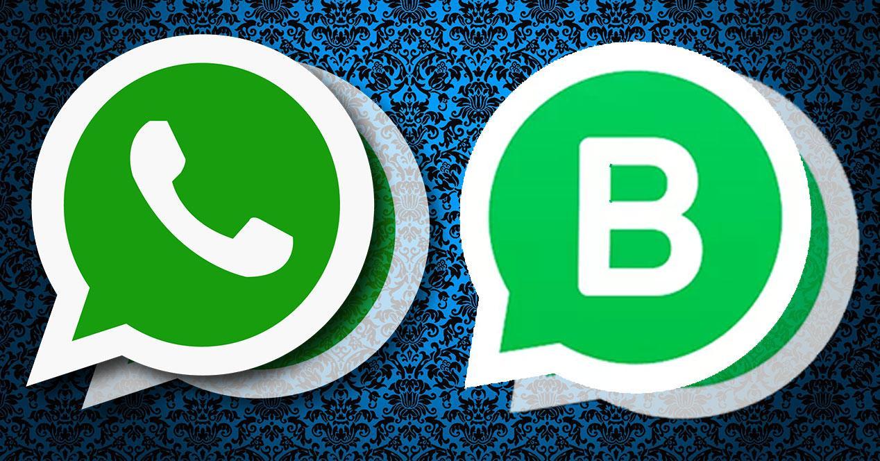 dos logos de whatsapp y whatsapp bussines