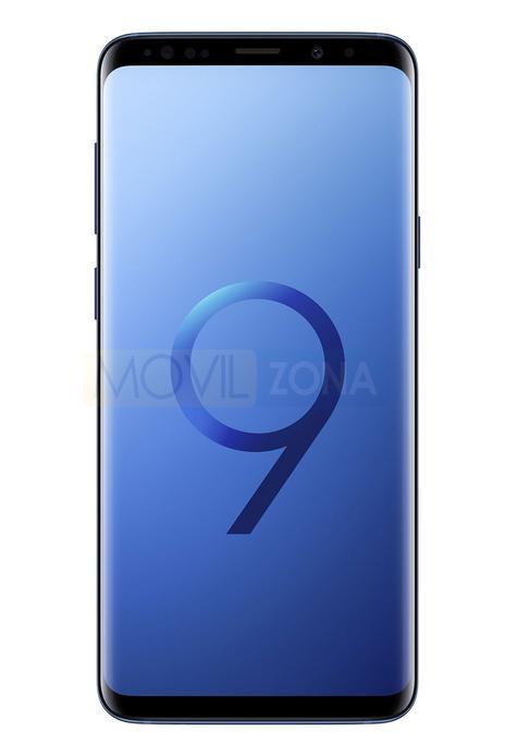 Samsung Galaxy S9+ azul vista fontal