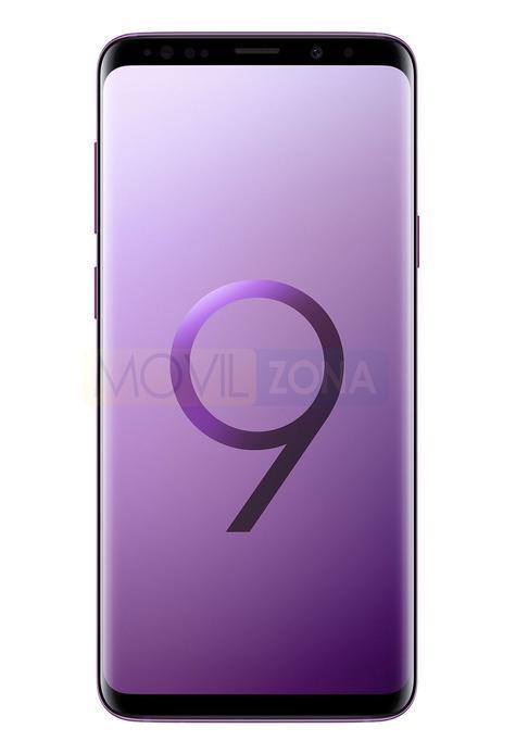 Samsung Galaxy S9+ rosa vista fontal