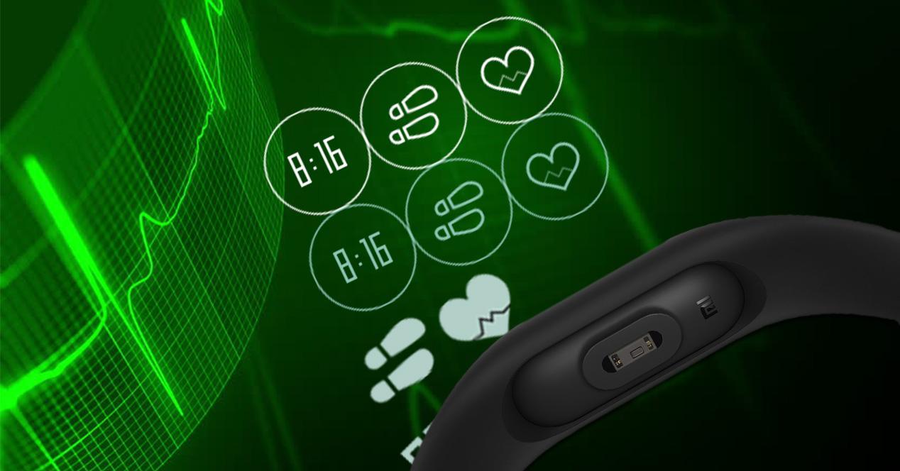 Pulsómetro de la Xiaomi Mi Band 2