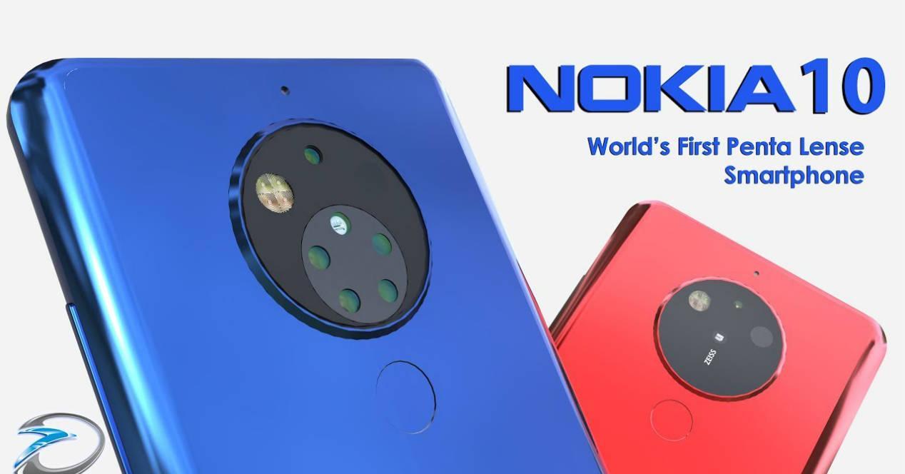 Nokia 10 camara 5 lentes