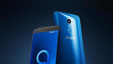 Alcatel 3 azul y negro vista detalle de la cámara digital