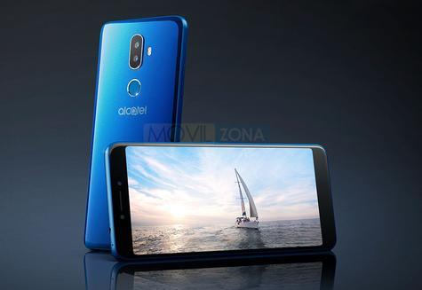 Alcatel 3V negro y azul