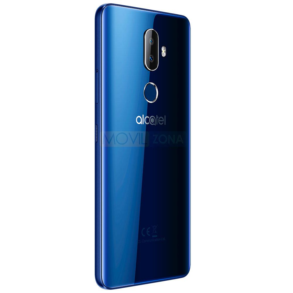 Alcatel 3V en color azul brillante vista lateral