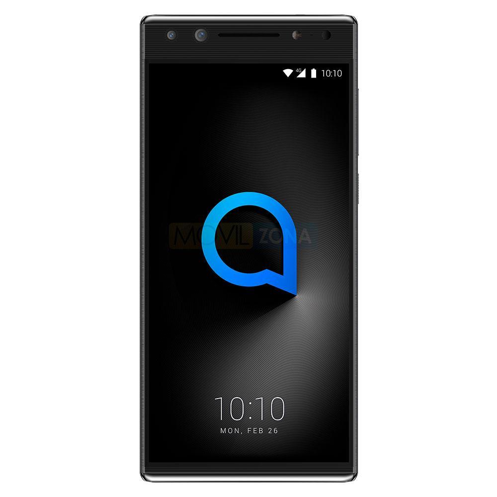 Alcatel 5 negro con el logotipo de Alcatel