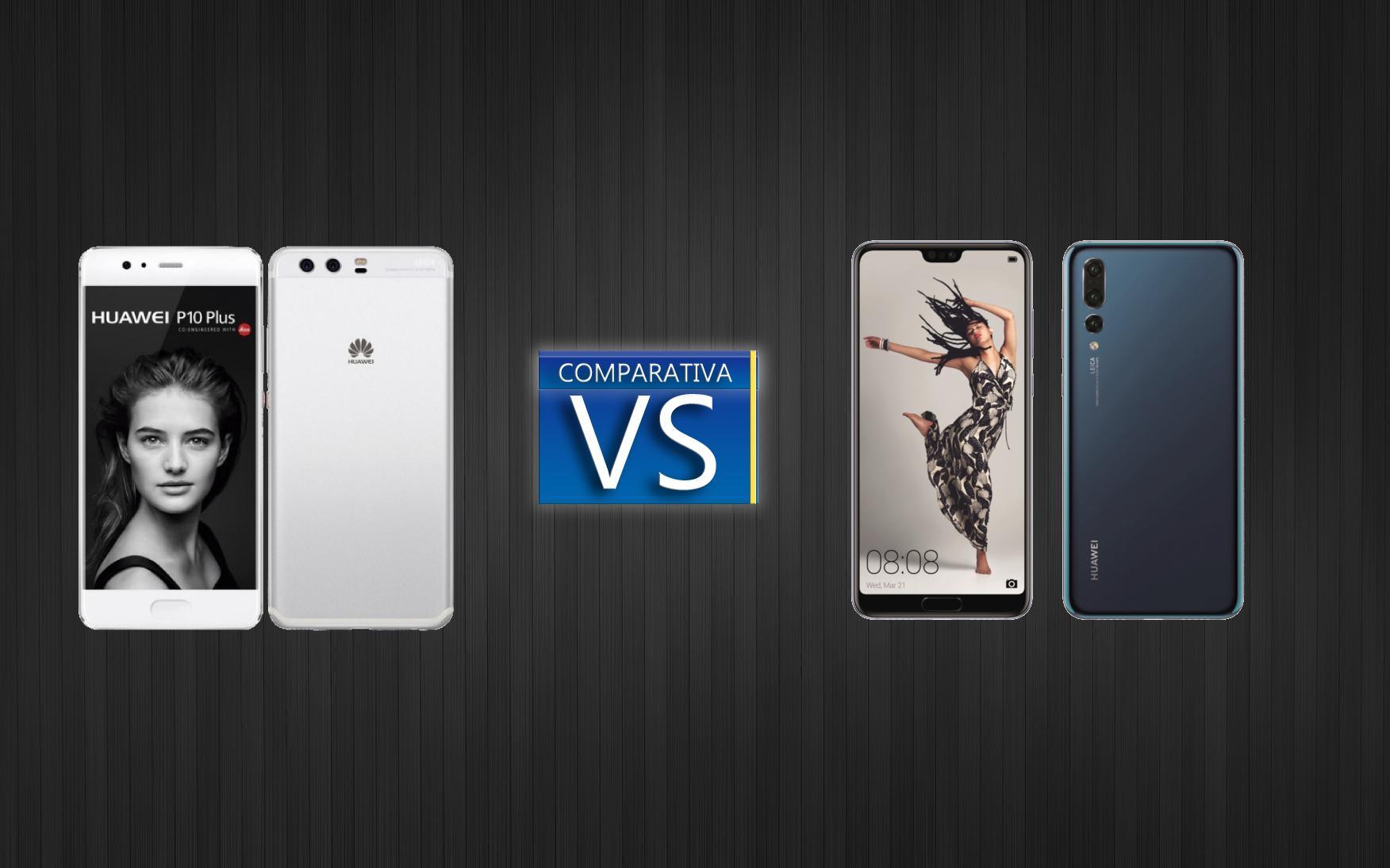 Comparativa del Huawei P20 y el Huawei P10