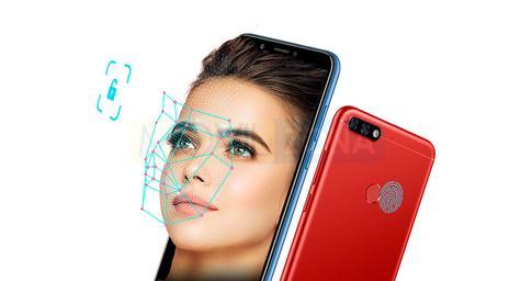Honor 7C rojo con chica y reconocimiento facial