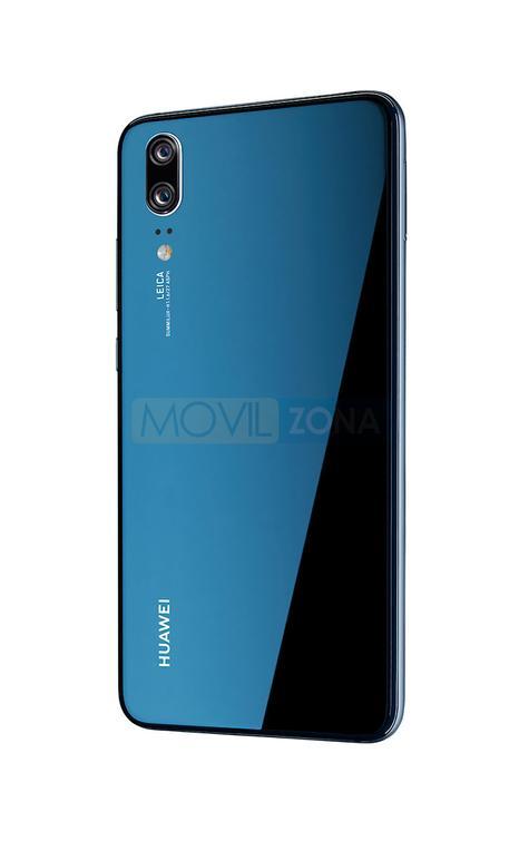 Huawei P20 azul vista lateral