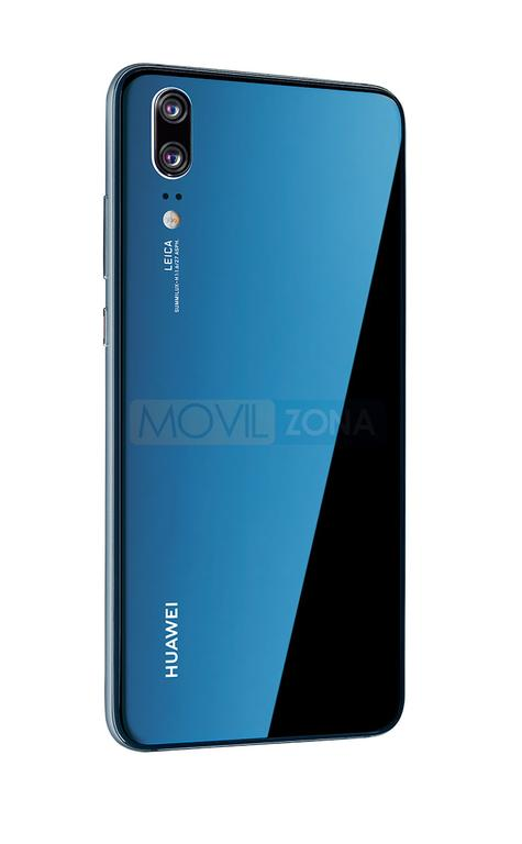 Huawei P20 azul con Android