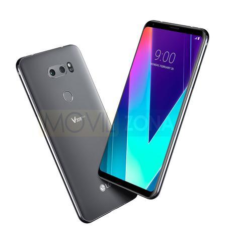 LG V30S ThinQ en color plateado y negro