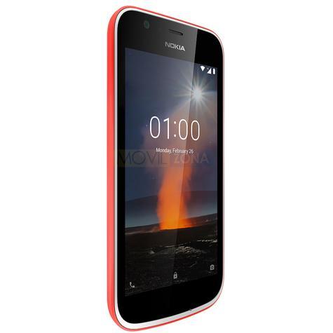 Nokia 1 rojo vista lateral