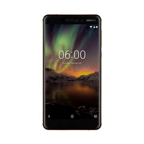 Nokia 6 negro con Android