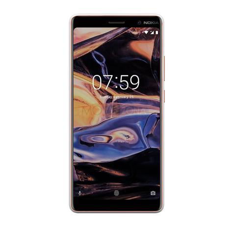 Nokia 7 Plus negro frontal