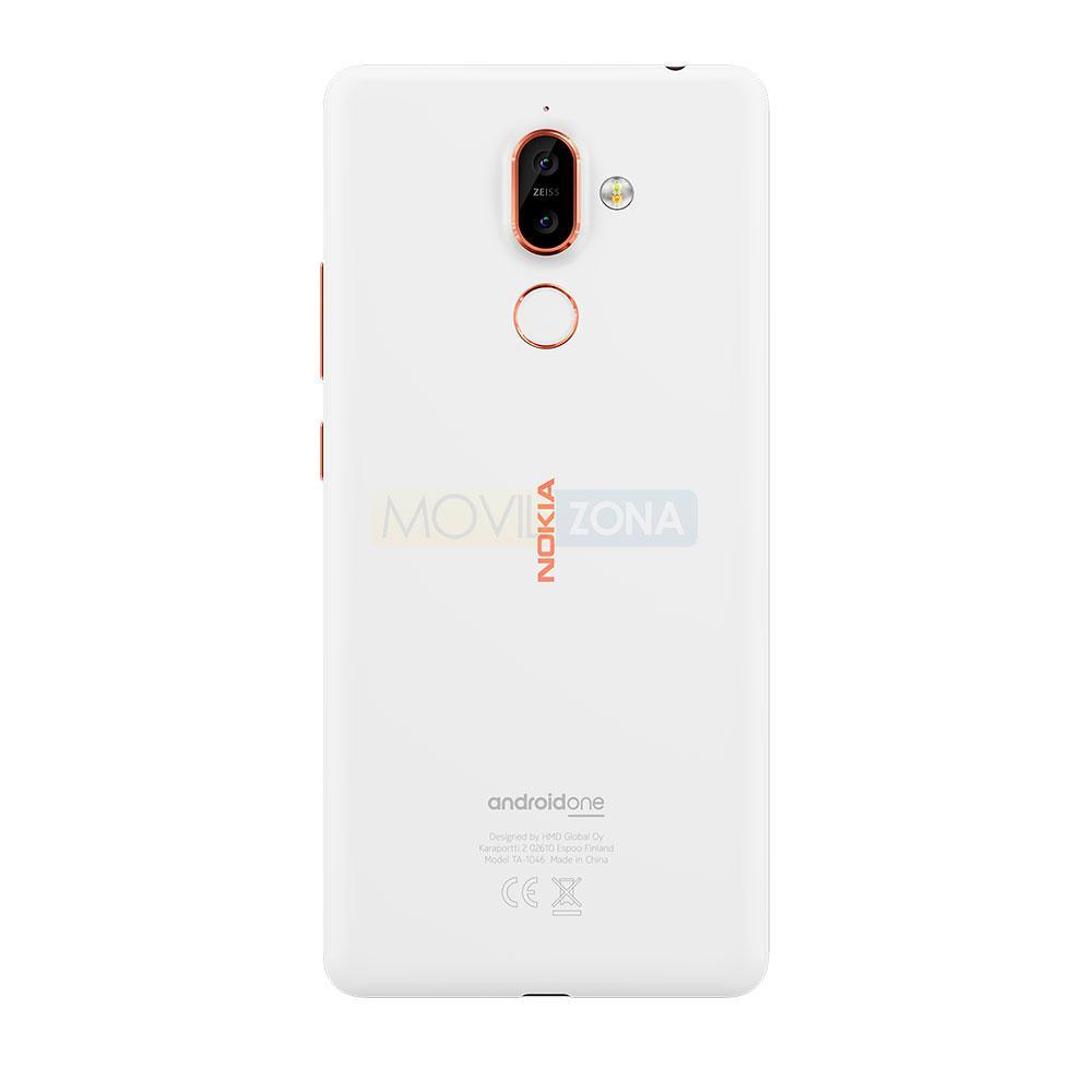 Nokia 7 Plus blanco detalle de la cámara