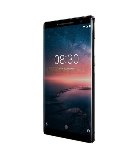 Nokia 8 Sirocco negro vista lateral