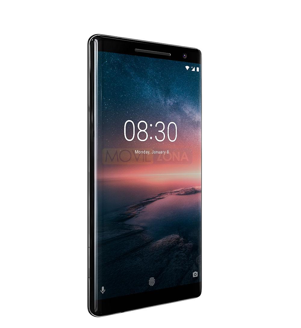 Nokia 8 Sirocco Android vista lateral