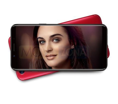 Oppo F5 con chica en pantalla