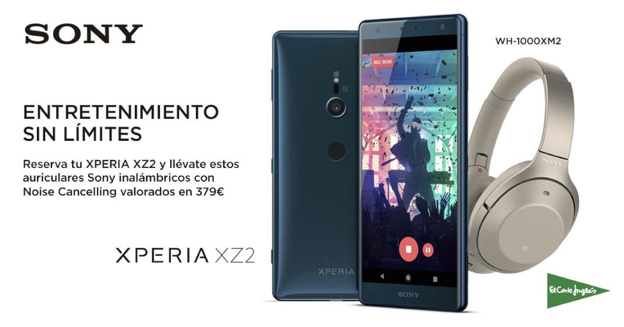 Promoción al reservar el Sony Xperia XZ2